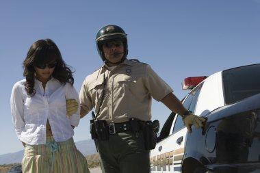Cop Arresting Female Driver