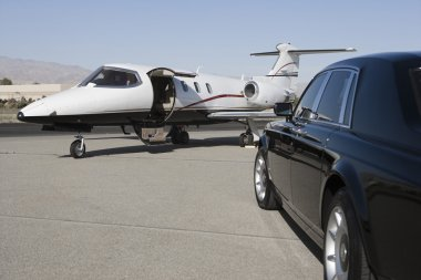Luxurious Car And Airplane