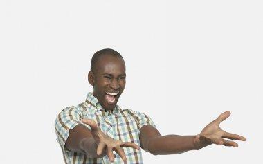Enthusiastic Man Gesturing