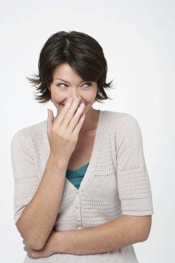 Shy Woman Smiling
