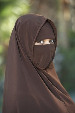 Woman In Brown Niqab
