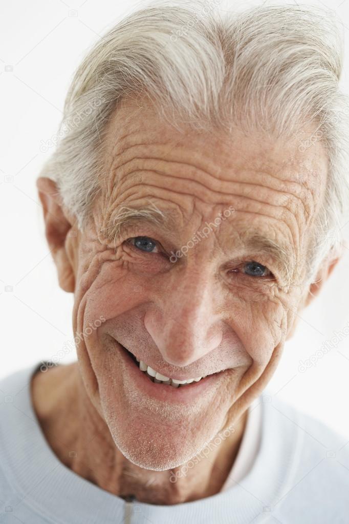 closeup de anciano sonriendo foto de stock londondeposit 21786593. Black Bedroom Furniture Sets. Home Design Ideas