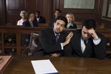 lawyer with upset client