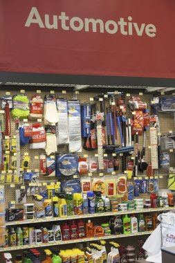 Interior view of a hardware store