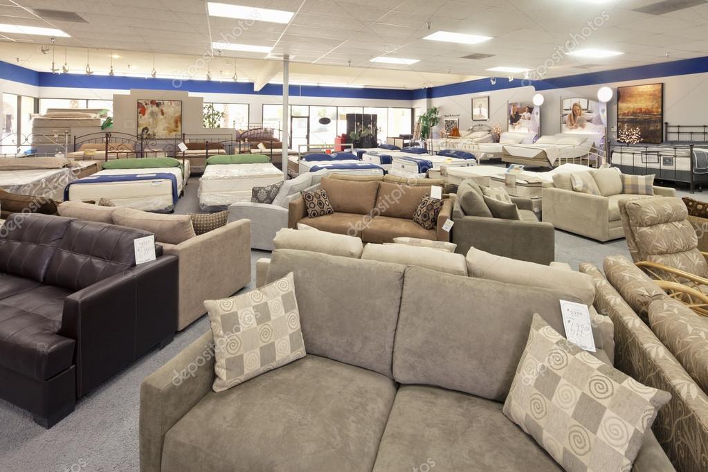 Sitzmöbel Und Matratze Im Shop Angezeigt Stockfoto Londondeposit