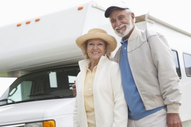 Senior Couple And RV Home