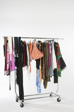 Fashion Clothes Hanging On Clothes Rail