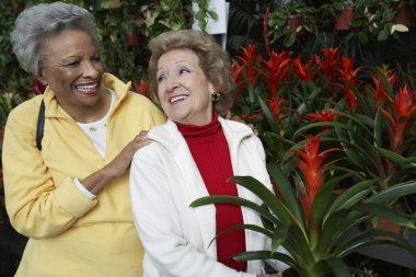 Senior Women At Botanical Garden