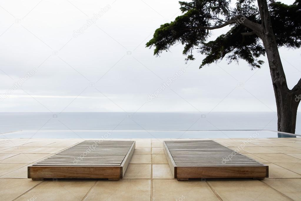 Sun Beds By Infinity Pool