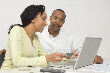 Couple Making an Online Transaction