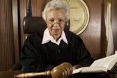 soudce sedí s knihou