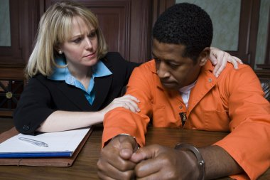 Lawyer Consoling Criminal