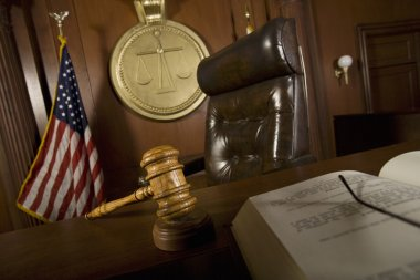 Judge's Chair In Courtroom