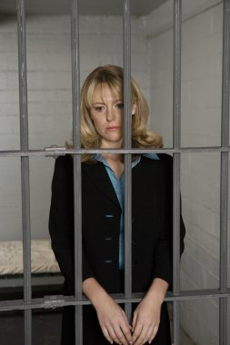 Female Criminal Behind Bars