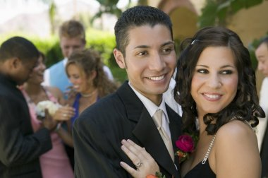 Teenage Couple at Prom