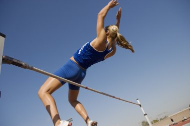 Female high jumper