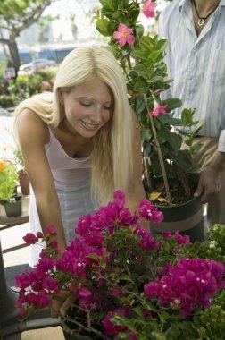 Woman Shopping Flowers