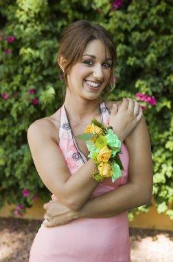 Teenage Girl Wearing Corsage