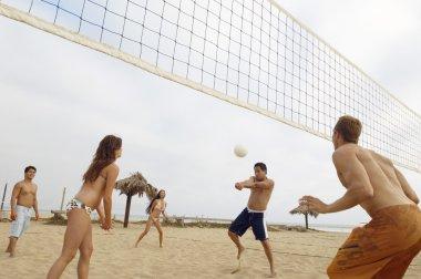 Man Hitting Volleyball