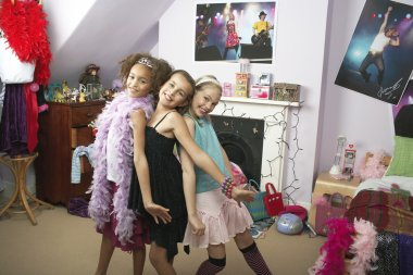 Young Girls striking a pose