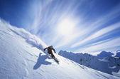 Fotografie Skifahren am Berghang Person