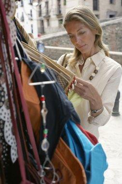 female Tourist Shopping