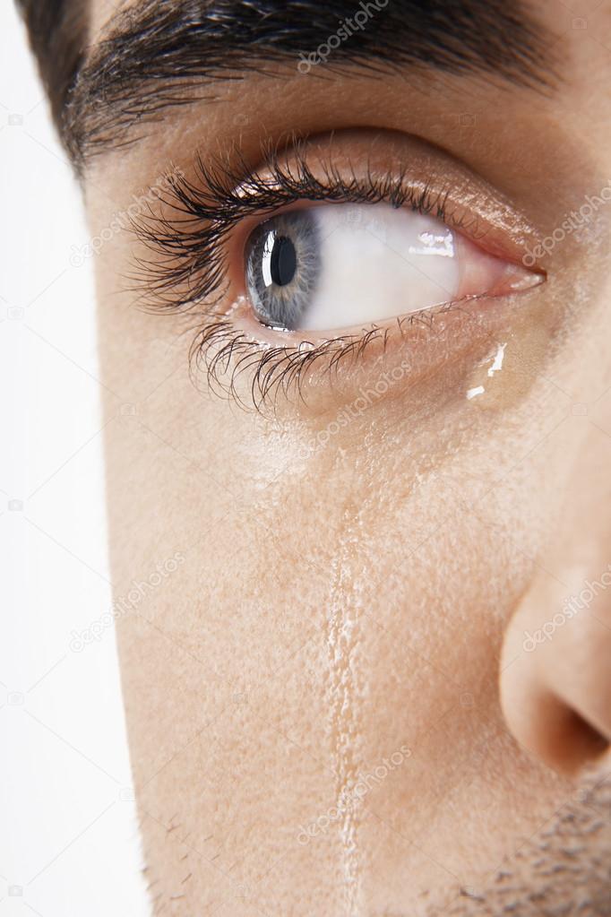 De Hombre Ojos Llorando Stockfoto Londondeposit 33825679