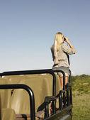 Fotografia donna su safari