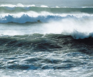 Waves Crashing near Shoreline
