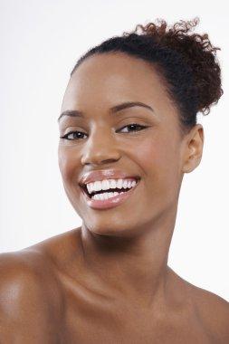 Beautiful young black woman