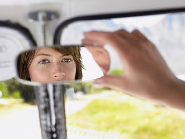 Woman with Rearview Mirror