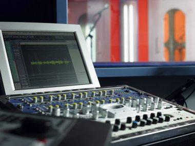 Monitor in recording studio
