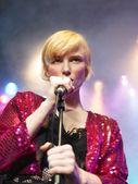Fotografie zpěvačka na pódiu