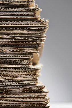 Pile of corrugated cardboard