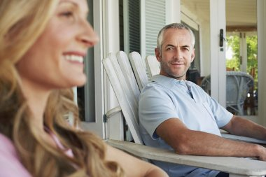 Couple sitting on porch