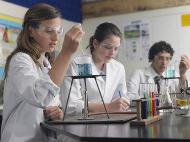 High School Students in Laboratory