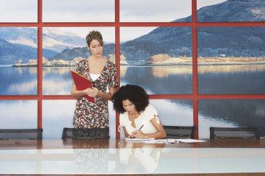 Businesswomen Working in  Room