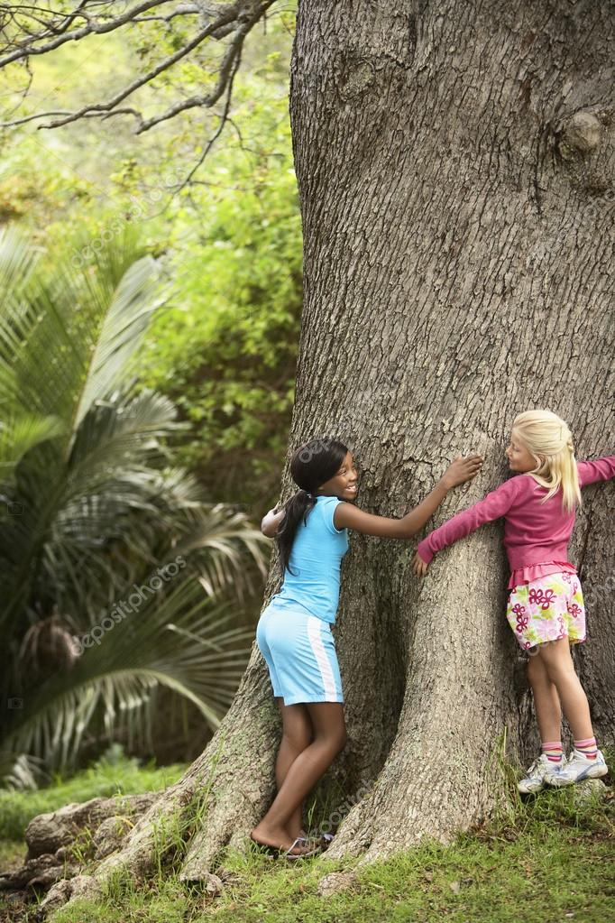 little Girls with Tree