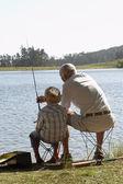 dědeček a vnuk, rybolov