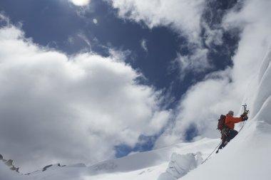 Mountain climber with axe