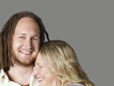 Couple posing in studio