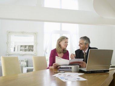 Woman with financial advisor