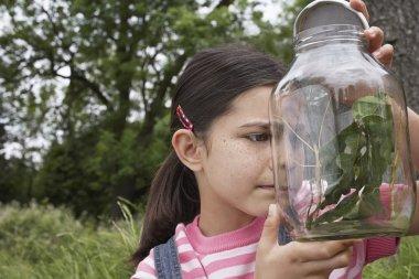 Girl Examining Mantis