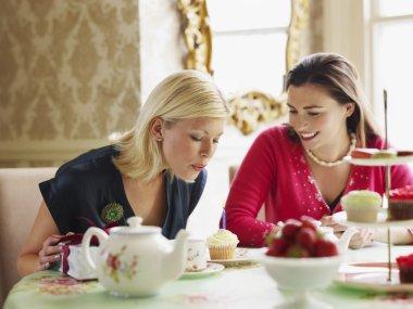 Women Dining in Tea Room