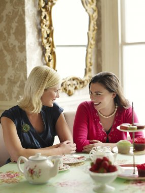 Young Women Dining