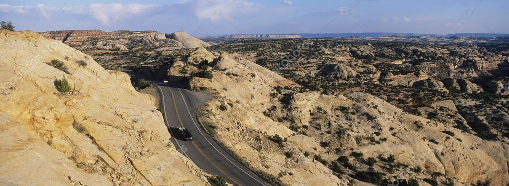 Utah car on road