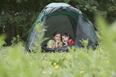 little Friends in Tent