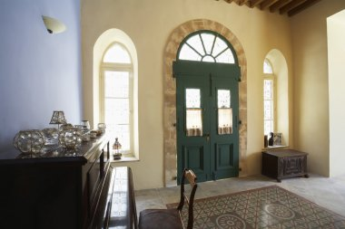 Hall of antique Mediterranean town house