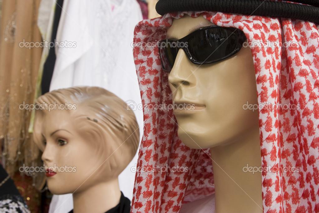Schaufensterpuppe-Anzeige der traditionellen Männer Kopfschmuck ...