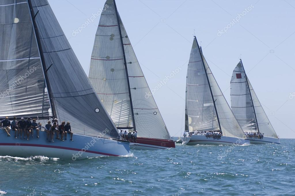 Yachts on sailing event